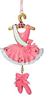 Personalized Ballet Christmas Tree Ornament 2019 - Pink Dancer Costume Dress Ruffles Hanger Shoes Dangle Tulle Skirt Leotard Performing Art Profession Girl Gift Year - Free Customization