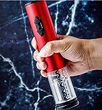 MAXFANX Cavatappi da Vino Materiale in Acciaio Inossidabile Multifunzione Completamente Automatico Il cavatappi a Spirale Automatico Veloce Amanti del Vino-Rosso Opaco