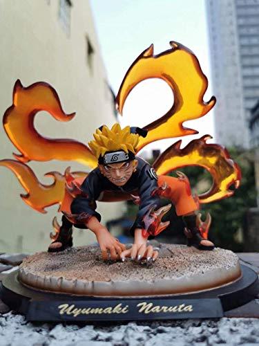 UanPlee-SC Regalo Naruto LS GK Nine Tails Demon Fox Fairy Naruto Mode PVC Statue Mobile Doll Modelo Juego Almacenable Decoración Altura: 20cm