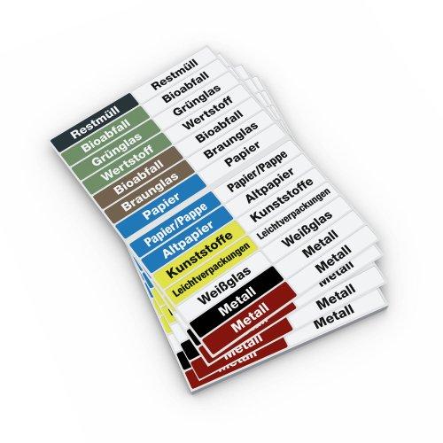 Durable 142161 etiketten afvalscheiding, Duits