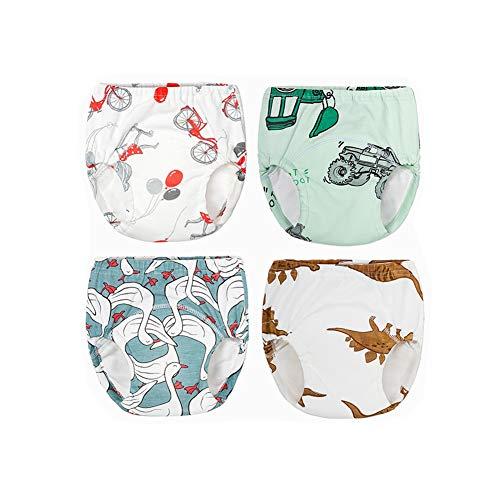 Morbuy 3/4/6er Pack Baby Lernwindel Trainerhosen Unterwäsche Windeln Windelhose zum Toilettentraining Töpfchentraining Kleinkind Töpfchen Klingelhose Waschbare Lernwinde (100,4pcs weiß Blau)