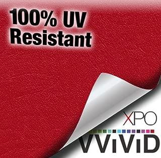 VViViD Red Weatherproof Faux Leather Finish Marine Vinyl Fabric (5ft x 54