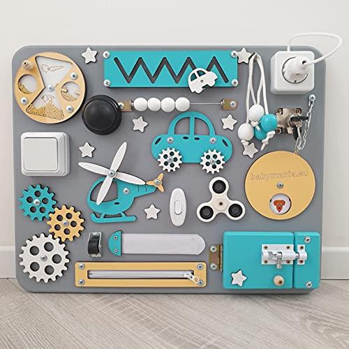 Panel Sensorial Montessori Babymania Busy Board – Tabla de actividades (Mix)