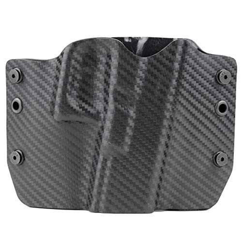 Outlaw Holsters Black Carbon Fiber OWB Holster (Right-Hand, 1911 w/o Rail)