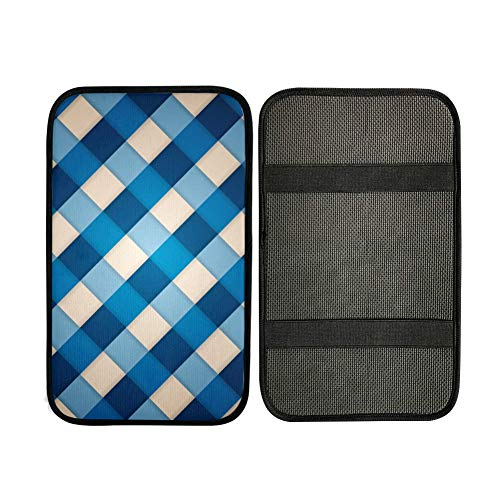Console Armrest Cushion Blue Clean Geometric Design Universal Car Armrest Cover Armrest Cushion Cover 12.3 X 7.5 Inch Neoprene Car Armrest Seat Box Cover Protector For Most Vehicle
