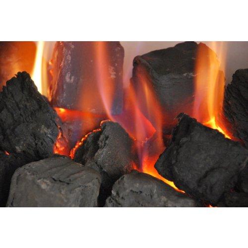 Coals 4 You 30 zufällig gemischte Gas-Keramikkohlen Ersatzrost Glühen/Bio-Brennstoffe/Keramik/Box direkt vom Hersteller, schwarz