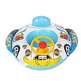 Omabeta Rueda giratoria Inflable bebé natación Flotador bebé Nadador círculo Juguetes de Agua para Piscina Anillo de Asiento de natación Infantil