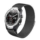 TLF 22 mm for Huawei Reloj GT2e GT2 46mm Milanese Correa de Metal (Color : Black)