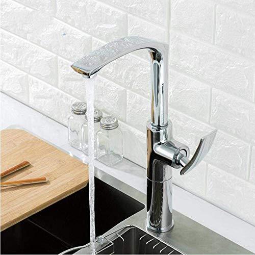 QLCY-78OI Tippen Sie auf Startseite Einhand-Küche Küchenmaschine hohe Chrom Waschbecken Wasserhahn Bad Wasserhahn Höhenverstellbarer Heiße und kalte Mischbatterien