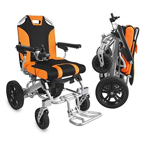 BQT Faltbarer elektrischer Rollstuhl, beweglicher älterer Roller Neuer Luftfahrttitanlegierungsrahmen Erwachsener Elektroauto angetriebener Rollstuhl 360 ° Joystick