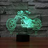 Night Light Motorrad 3d Lampe Led 7 Farbwechsel Usb Tisch Lampenatmosphäre Nachtlicht-tauchleuchte...