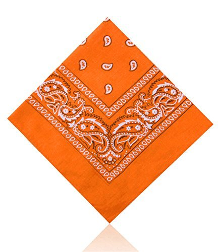 Price comparison product image Paisley Bandanas by Lizzy® (Orange)