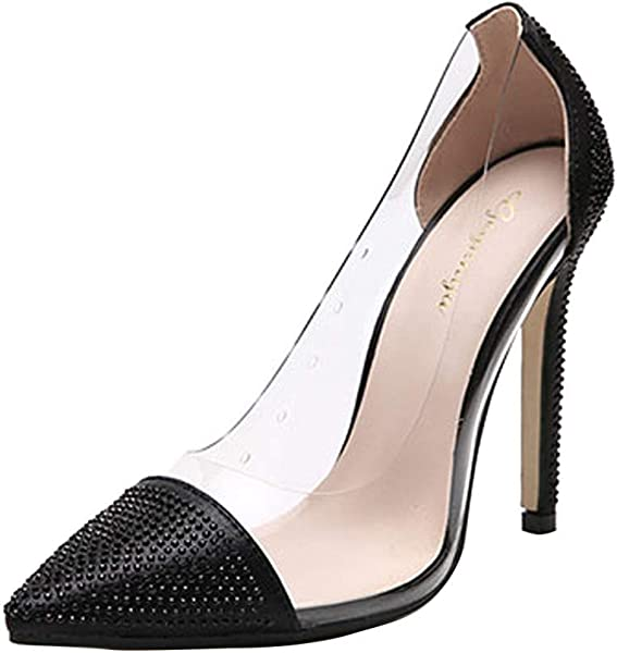 ZOMUSAR New 2019 Women S Summer Casual Fashion Rhinestone Pointed Nightclub High Heels Shoes