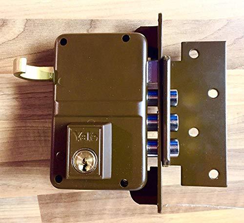 Cerradura Sobreponer Alta Seguridad Sistema Antipalanca con 3 Bulones de Acero Picaporte...