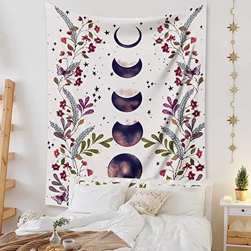 Boho Psicodélico Elefante Árbol de la Vida Tapiz Floral Estampado Hippy Mandala Gitana para colgar en la pared, manta de picnic, colcha para decoración de mesa, sofá, playa, yoga, manta, Ex-3, Large