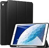 ZtotopHülle Hülle für iPad Air 10.5 2019(3. Generation) & iPad Pro 10,5 2017,Superdünne Soft TPU Rückseite Abdeckung mit eingebautem iPad Stifthalter, mit Auto Schlaf-/Aufwachfunktion, Schwarz