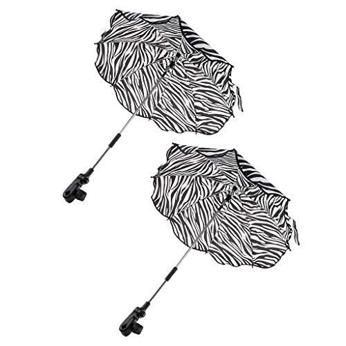 freneci 2 Stück Regenschirm, Winddichter Regenschirm, Regenschirmständer, Klappschirm