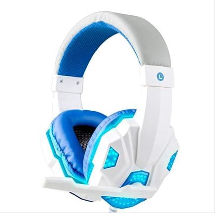 PMWLKJ 3.5 Mm Cablato Gaming Headset Rumore Isolamento Volume Controllo Cuffia Gaming per Laptop Computer Cuffia con Mic LED Luce Bianco - Trova i prezzi più bassi