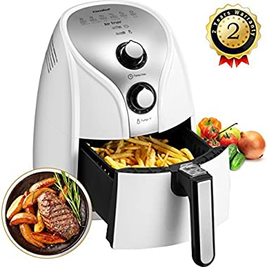 Comfee 1500W Multi Function Electric Hot Air Fryer with 2.6 Qt. Removable Dishwasher Safe Basket(White)