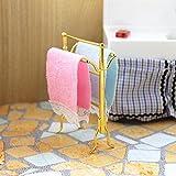 Ruby569y Accesorios para casa de muñecas para bricolaje, 1/6 1/12 miniatura baño toallas rack Set Do...