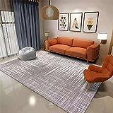 alfombras Grandes para Salon Gris Patrón Antiguo Vintage de la Alfombra Gris del salón con Lavado de Agua de Alfombra Duradera alfombras Infantil 200X300CM alfombras Salon 6ft 6.7''X9ft 10.1''