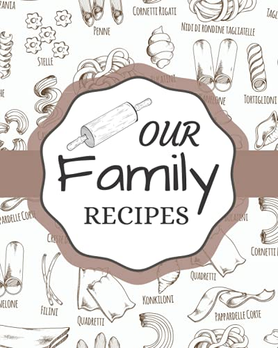 Our Family Recipes: Blank Recipe Book To Write In: Empty Cookbook And Organizer To Note Down Your 100 Delicious Recipes