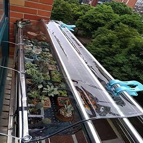 Cortinas de lona transparentes Toldo transparente para toldo Patio a prueba de lluvia Lona de vidrio suave antienvejecimiento, para la carpa del balcón del techo de la conejera del jardín, 0,35 mm