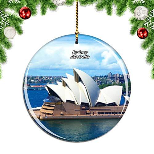 Weekino Australien Sydney Opera Weihnachtsdekoration Christbaumkugel Hängender Weihnachtsbaum Anhänger Dekor City Travel Souvenir Collection Porzellan 2,85 Zoll