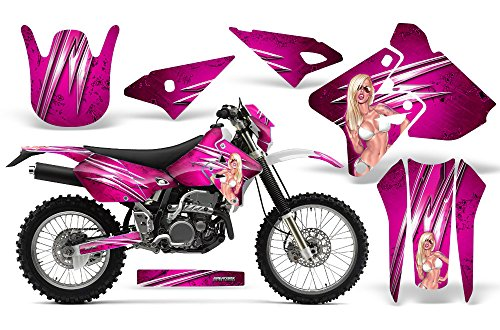 CreatorX Graphics Kit Decals Stickers for Suzuki DRZ400 DRZ400S Z400 E Graphics You Rock Pink Incl. Number Plate Graphics