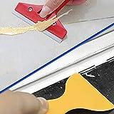Raspador de sellador de lechada 13 piezas Kit de herramientas de calafateo para embellecer pegamento de vidrio