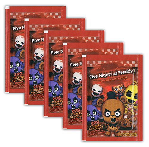 Just Toys - Five Nights at Freddy's - Sammelsticker - 5 Booster Tüten 30 Sticker