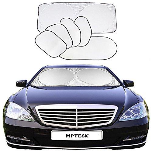 MPTECK @ Parabrezza Parasole Pieghevole retrattile Auto Protector 6 pezzi - protegge contro i dannosi raggi UV per SUV, Automobile o camion