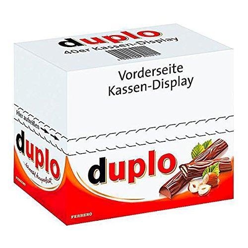 160 Ferrero Duplo a 18 g gefüllte Schokolade mit Nougatcreme und Waffelfüllung