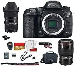 Canon EOS 7D Mark II DSLR Camera with 18-135mm f/3.5-5.6 is USM Lens + Canon EF 100mm f/2.8L Macro is USM Lens + Sigma 18-35mm f/1.8 DC HSM Art Lens Kit