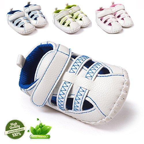 Baby Schuhe, Morbuy Fashion Unisex Sandalen Neugeborene 0-18 Monate Anti-Rutsch Weiche Alleinige Kleinkind Schuhe Krabbelschuhe Wanderer Weiche Alleinige Schuhe (13cm / 12-18 Monat, Blau)
