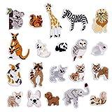 20 piezas Parches termoadhesivos, apliques de animales del bosque para coser, juego de costura para niño, Parches para planchar para DIY Sombrero Bolsa Jeans Camiseta