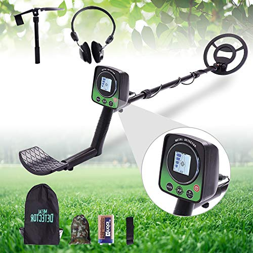 Ferrous Metal Discrimination Metal Detector For Adults and Kids, High Accuracy Metal 3 Modes Adjustable Detector with Lcd Screen And LED Light Waterproof Search Coil For for Beginners Treasure Hunting