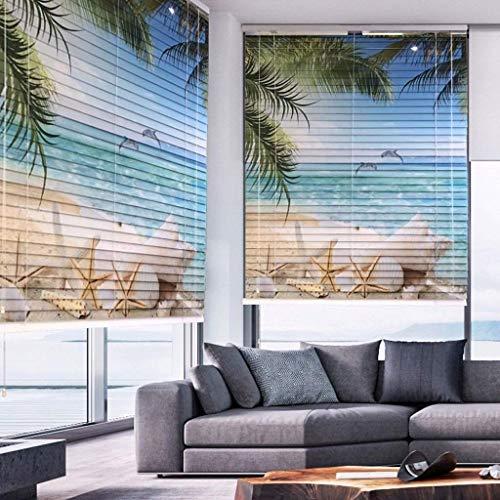 1yess - Persianas enrollables de aluminio, persianas perforadas de impresión, sombreado, impermeable y resistente al aceite, tamaño personalizable (color: B, tamaño: 100 x 180 cm)