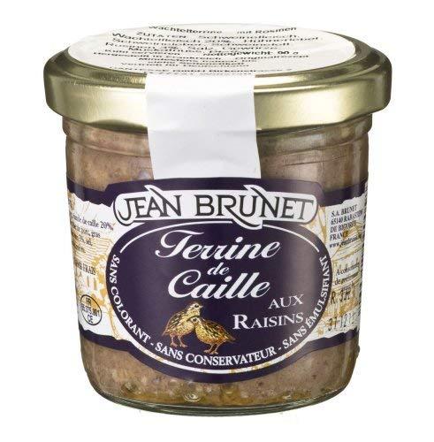 Wachtelterrine mit Rosinen, 90g, Paté de Caille aux raisins