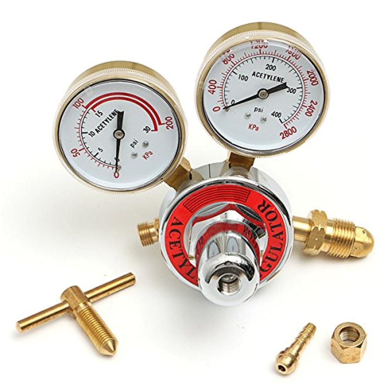 東目覚める暫定Wchaoen 溶接ガスアセチレン減圧弁レギュレータガスメータ圧力計 ハードウェア部品