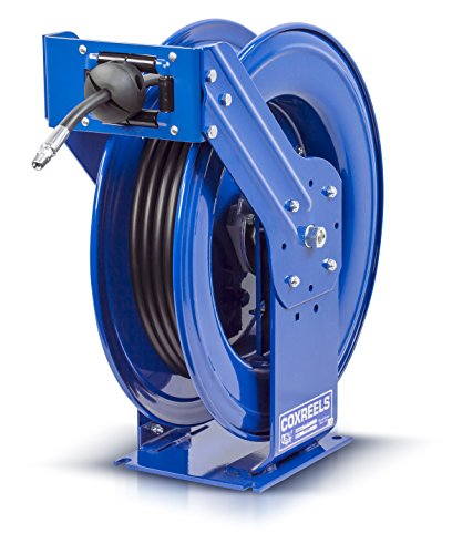 Coxreels THP-N-150 Supreme Duty Spring Rewind Hose Reel for grease/hydraulic oil: 1/4