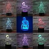 Farbsichtfußballmobilisierungsformnachtlicht-Tischlampenkinderbabyschlafenbeleuchtungshauptdekoratio...
