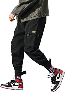 Men's Fashion Cargo Pants Casual Hip Hop Drawstring Ankle Pants Ankle Length Relaxed Fit