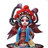 Artesanía China Muñecas de ópera de Pekín de China, adorable Juguete Emperador Muñeco de escritorio Art Ornamento para la tienda de dormitorio Inicio Oficina, Estatua Artesanía Mascotas Souvenir