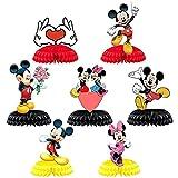 BESTZY 7Piezas Mickey Minnie Centros de Mesa de Panal, Decoraciones de...