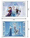 Zoom IMG-1 kibi 2pcs adesivi muro frozen
