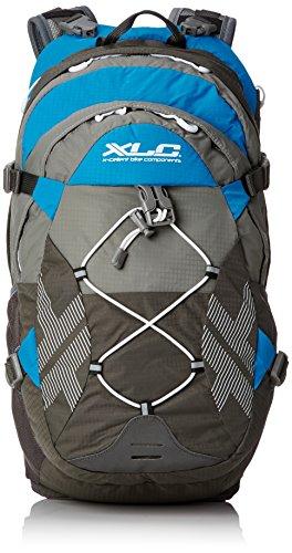 XLC Unisex– Erwachsene Bike Rucksack BA-S48, Grau Blau, 270x470x220