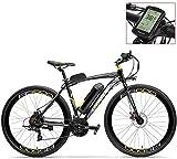 Bicicleta de montaña eléctrica, Pedal Assist 700C bicicleta eléctrica de 36V 20Ah de la batería del motor 350W aleación de aluminio de la superficie de sustentación-Marco en forma Tanto freno de disco