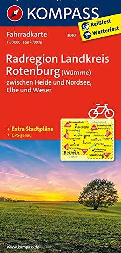 KOMPASS Fahrradkarte Radregion Landkreis Rotenburg (Wümme) zwischen Heide und Nordsee, Elbe und Weser: Fahrradkarte. GPS-genau. 1:70000 (KOMPASS-Fahrradkarten Deutschland, Band 3010)