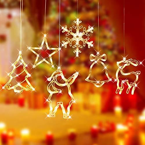 Luces Cadena Vacaciones,Luces de Decoración Navideña,Luces De Navidad Led Luz Colgante,Lámpara De...